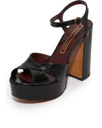Sandalias de cuero negras de Marc Jacobs