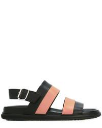 Sandalias de cuero negras de Marni