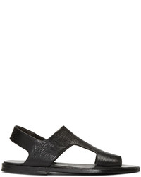Sandalias de cuero negras de Marsèll