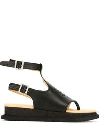 Sandalias de cuero negras de MM6 MAISON MARGIELA
