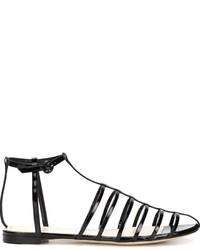 Sandalias de cuero negras de Nina Ricci