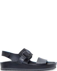 Sandalias de cuero negras de Officine Creative