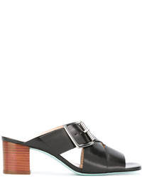 Sandalias de cuero negras de Paul Smith