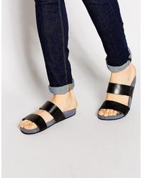 Sandalias de cuero negras de Ted Baker