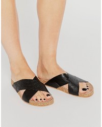 Sandalias de cuero negras de Vero Moda