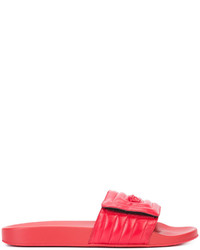 Sandalias de cuero rojas de Versace