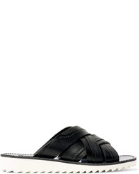 Sandalias de cuero tejidas negras de Dolce & Gabbana