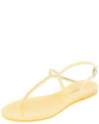 Sandalias de dedo amarillas de LK Bennett