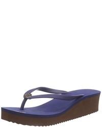 Sandalias de dedo azules de flip*flop