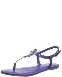 Sandalias de dedo azules de Tommy Hilfiger