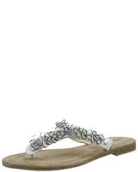 Sandalias de dedo blancas de Tamaris