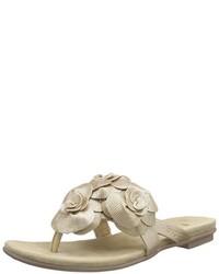 Sandalias de Dedo Doradas de Bugatti