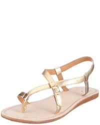 Sandalias de Dedo Doradas de Flip Flop apparel