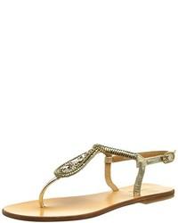 Sandalias de dedo doradas de Les Tropéziennes par M. Belarbi