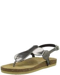 Sandalias de Dedo Gris Oscuro de Buffalo