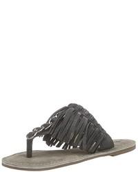 Sandalias de Dedo Gris Oscuro de Tamaris