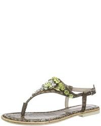 Sandalias de dedo marrónes de Marco Tozzi