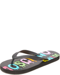 Sandalias de dedo negras de Moschino