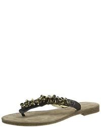 Sandalias de dedo negras de Tamaris