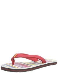 Sandalias de dedo rojas de Chiemsee