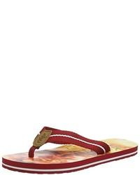Sandalias de Dedo Rojas de Salamander