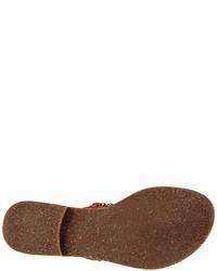 Sandalias de dedo rojas de Tamaris