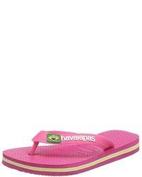 Sandalias de dedo rosa de Havaianas