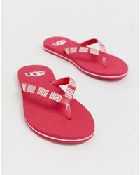 Sandalias de dedo rosa de UGG
