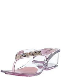 Sandalias de dedo rosadas de kamoa