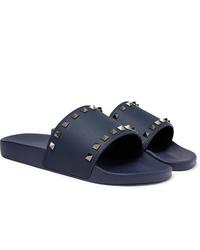 Sandalias de goma azul marino de Valentino