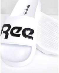 Sandalias de goma en blanco y negro de Reebok