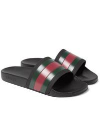 Sandalias de goma en multicolor de Gucci