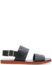 Sandalias de goma negras de Marni