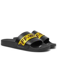 Sandalias de goma negras de Off-White