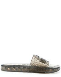Sandalias de goma negras de Puma
