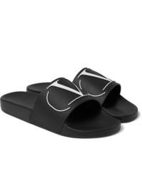 Sandalias de goma negras de Valentino