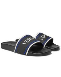 Sandalias de goma negras de Versace