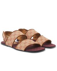Sandalias de lona en beige de Gucci