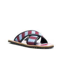 Sandalias de lona en multicolor de Marni
