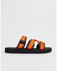 Sandalias de lona naranjas de ASOS DESIGN