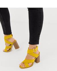 Sandalias De Unas Tacón Amarillas Comprar AsosElegir On0Pwk