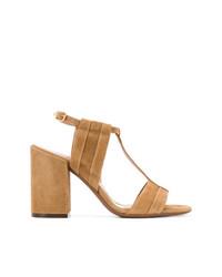 Sandalias de tacón de ante marrón claro de L'Autre Chose