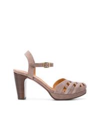 Sandalias de tacón de ante marrónes de Chie Mihara