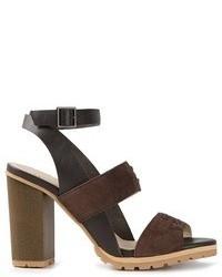 Sandalias de tacón de ante marrónes de See by Chloe