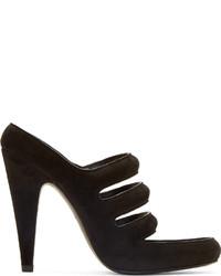Sandalias de tacón de ante negras de Alexander Wang