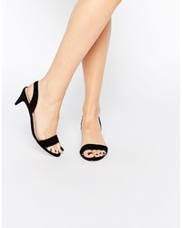 Sandalias de Tacón de Ante Negras de Asos