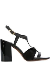 Sandalias de tacón de ante negras de L'Autre Chose