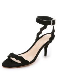 Sandalias de Tacón de Ante Negras de Loeffler Randall