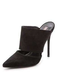 Sandalias de tacón de ante negras de Schutz