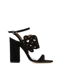 Sandalias de tacón de ante negras de Tabitha Simmons